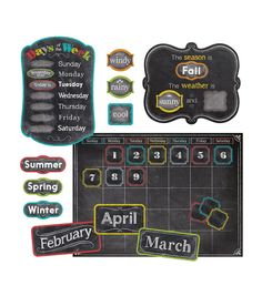 Chalk It Up! Calendar Bulletin Board Set
