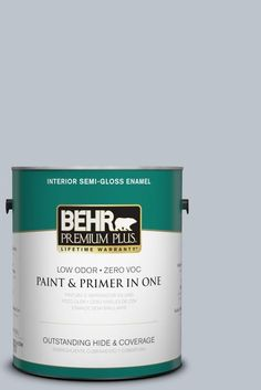 Here's a paint tough enough to tackle any room in your home without sacrificing beauty. This sleek sheen resists mildew and wear, so it's great for bathrooms and kitchens.