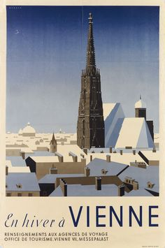 Buy online, view images and see past prices for Old Beautiful Vienna Austria Travel Poster Plakat. Invaluable is the world's largest marketplace for art, antiques, and collectibles. Travel Illustration, Digital Illustration, Vienna Winter, Winter Holiday Destinations, Tourism Poster, Room Posters, Vienna Austria, Winter Art, Vintage Travel Posters