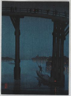 Kobayashi Eijiro, High Bridge, 1910-30. With thanks to artemisdreaming.