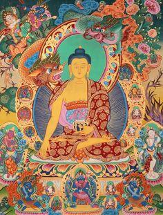 Thangka Painting of Buddha. Handmade in Nepal. Thangka Painting, Buddha Painting, Buddha Art, Tibetan Art, Tibetan Buddhism, Buddha Buddhism, Chinese Buddha, Inspirational Artwork, Lets Go