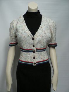vintage 1940s cropped cardigan / 40s cardigan by secreteyesonly, $58.00 ~