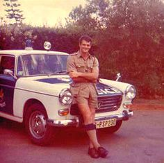 policeman in Summer Uniform Police Cars, Police Vehicles, Ian Smith, Out Of Africa, Vintage Shorts, My Heritage, Zimbabwe, African History, Military History