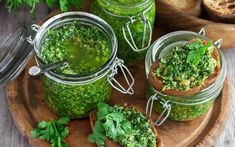 Cilantro and Pumpkin Seed Pesto Recipe – Food and Recipes – Mother Earth Living - Modern Whole Food Diet, Whole Food Recipes, Moringa Recipes, Sauce Pesto, Cilantro Pesto, Vegetarian Recipes, Healthy Recipes, Superfood Recipes, Thm Recipes