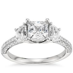 1 Carat Diamond Monique Lhuillier Trillion Cut Diamond Engagement Ring | Recently Purchased | Blue Nile