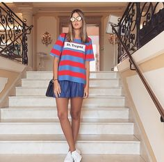 Anna Fasano veste @romariabh #fashionclothes #t-shirt #ootd #sttropez #fashionstyle