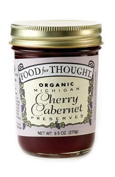 Organic/Fair Trade Cherry Cabernet Preserves™ - Food For Thought