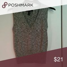 MNG by Mango glittery vest Grey sweater vest with silver. Extremely fashionable over a white shirt. Never worn. Mango Tops