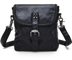 """""""PRETTY VAGRANT""""  Leather Bag With Rivets"""