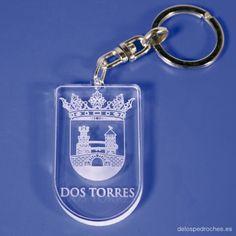 Llavero de metacrilato del escudo de Dos Torres #ValleDeLosPedroches    http://delospedroches.es/es/metacrilato/169-llavero-metacrilato-escudo-ll95.html