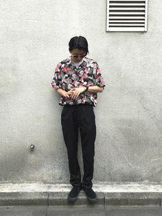 いつもいいね&セーブありがとうございます アロハシャツをモードに! ピンクが良い差し色になります