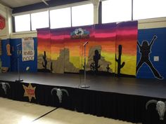 Wild Wild West backdrop for elementary variety show
