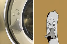 The illustrator Keith Larsen enjoys drawing the faces he sees in everyday objects, using the famous phenomenon of pareidolia, which makes us see human or anima