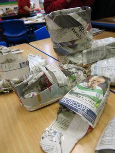Mrs Crosbie: NEWSPAPER SHOES