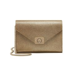 Golden Gifts from Mulberry - Delphie Clutch in Metallic Mushroom Goat