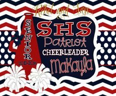 Personalized Monogrammed All Star Cheer by RebelandSassDesigns