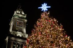 2013 Christmas Tree Lighting Festivals in Boston