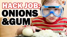 HACK: Stop Crying! Chew Gum While Cutting Onions? - Hack Job #2