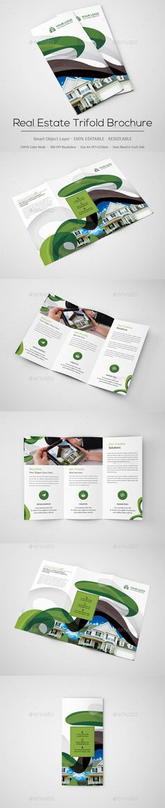 BiFold Business Brochure Template  Logos Print  And Creative