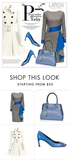 """""""LATTORI dress"""" by water-polo ❤ liked on Polyvore featuring Lattori, Tod's, Roger Vivier, polyvoreeditorial and lattori"""