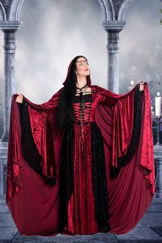 Gwendolyn Medieval Wedding Gown Velvet and Lace by RomanticThreads, $625.00