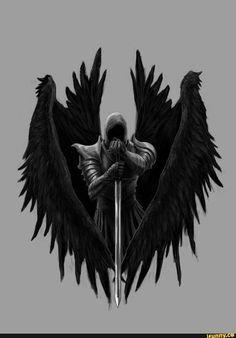 Picture memes by Abaddon_Tenebris - iFunny :) - Dark fantasy Dark Fantasy Art, Fantasy Artwork, Body Art Tattoos, Tattoo Drawings, Sleeve Tattoos, 3d Tattoos, Tattoo Ink, Archangel Michael Tattoo, Grim Reaper Art