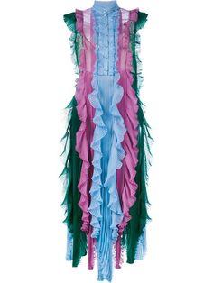 Shop Gucci plissé dress