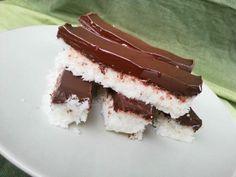 Zdravé a jednoduché kokosové tyčinky s čokoládou, Nepečené zákusky, recept | Naničmama.sk Sweet Desserts, No Bake Desserts, Cake Recipes, Dessert Recipes, Low Carb Recipes, Healthy Recipes, Look Body, Keto Cake, Fudge Cake
