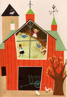 A Child's Garden of Verses - by Robert Louis Stevenson, illustrated by Alice  Martin Provensen (1951).