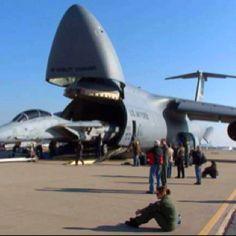 Lockheed C5 Galaxy Engineered for maximum cargo pay-load.. http://en.m.wikipedia.org/wiki/Lockheed_C-5_Galaxy