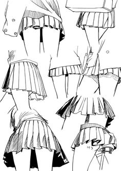 "dokuroou: "" プリーツスカートの描き方 [1] """