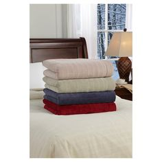 SoftHeat Plush Triple Rib Warming Throw - Nightshadow Blue (Throw)
