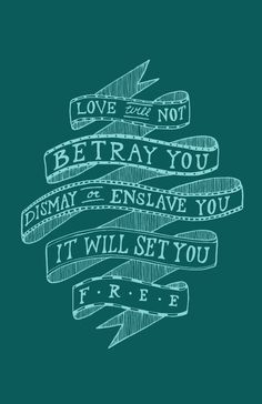 Mumford & Sons lyrics. Love the classic tattoo banner design. Christmas Carol lyric?