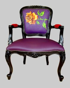 Jimmie Martin Armchairs 12 Fresh and Urban One Off Chairs from Jimmie Martin Ltd Funky Furniture, Home Decor Furniture, Painted Furniture, Cheap Adirondack Chairs, Purple Chair, Shelving Design, Upholstered Swivel Chairs, Painted Chairs, Colorful Chairs