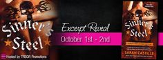 Excerpt Reveal: Sinner's Steel by Sarah Castille - Angel's Guilty Pleasures