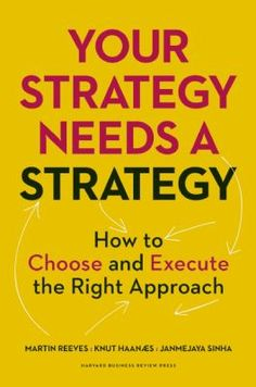 "Reeves, Martin. ""Your strategy needs a strategy : how to choose and execute the right approach"".Boston, Massachusetts : Harvard Business Review Press, 2015. Location 11.22-REE IESE Library Barcelona"