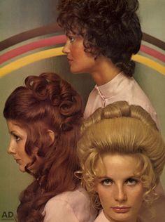 Wedding Hairstyles For Strapless Dress - vintage hair {c. in 2019 1970s Hairstyles, Vintage Hairstyles, Bun Hairstyles, Wedding Hairstyles, Updo Hairstyle, 1960s Hair, Hair Creations, Bleached Hair, Hair Repair