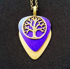Purple Gold Metallic guitar pick Jewelry $26 Purchase thru our website