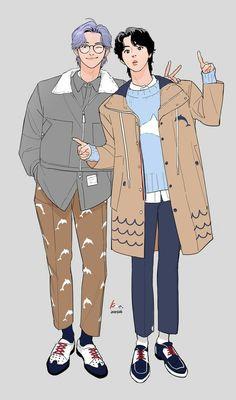 Chibi Fairy Tail, Fairy Tail Anime, Bts Manga, Fanfic Namjin, Bts Jungkook, Namjoon, Bts Jin, Bts Boyfriend, Foto Rap Monster Bts