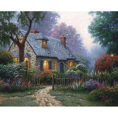 Thomas Kinkdade Foxglove Cottage s N w COA Paper All Other Kinkade Prints | eBay