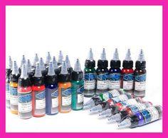 16 Color Set 1 oz 30 ml / Bottle Tattoo Set Pigmento de tinta para la belleza 3D Skin Body Art Tatuajes de alta calidad