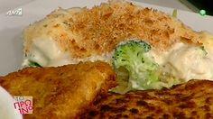 Σνίτσελ κοτόπουλου με λαχανικά ογκρατέν Chicken, Meat, Cooking, Food, Kitchen, Essen, Meals, Yemek, Brewing