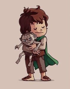 Lord of the Rings Frodo and Gallem