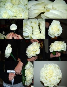 How to make a glamelia bridal bouquet - Chicago Flower Blog - Natural Beauties Florist - Chicago, IL
