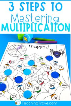 After introducing a multiplication fact to your grade students, give them five different ways to practice it. This set of 60 interactive multiplication games is perfect for giving your…More Maths 3e, Teaching Multiplication, Teaching Math, Multiplication Strategies, Math Fractions, Math For Kids, Fun Math, Math Activities, Math Graphic Organizers