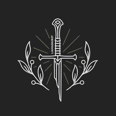 'Renewed shall be blade that was broken.' 🗡 More Lord of The Rings goodness to finish off the day. This is now available on tshirts at the link in my bio! Tolkien Tattoo, Lotr Tattoo, Sword Tattoo, Get A Tattoo, Gandalf Tattoo, Hobbit Tattoo, Ring Tattoos, Cool Tattoos, Tatoos