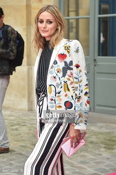 Fotografia de notícias : Olivia Palermo is seen arriving at Schiaparelli...