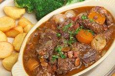 This traditional French dish delivers all the comforts of home in a nutritious, delicious, belly-warming Slow Cooker Beef Bourguignon Stew.