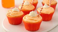 It doesn't get any easier than two-ingredient cupcakes! For best results, use a fruit-flavored carbonated beverage, such as orange, grape, strawberry or lemon-lime.