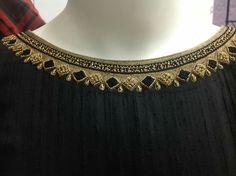 Mosaic inspired embellished collar?
